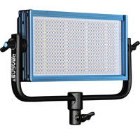 Dracast LED500 Pro Bi-Color LED Light with V-Mount Battery Plate + Barndoors + Spring-Cushioned Light Stand + 360-Degree Swivel Mount + Softbox + Honeycomb Grid