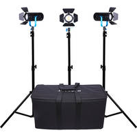 Dracast Boltray 600 Plus LED Bi-Color 3-Light Kit with Soft Padded Case + Dracast 6x NP-F 2200mAh Batteries and 6 Charger Kit