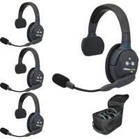 Eartec UL4S UltraLITE 4-Person Headset System with Batteries, Charger & Case (Single)