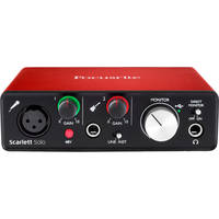 Focusrite Scarlett Solo (2nd Gen) 2 Input/ 2 Output USB 2.0 Audio Interface