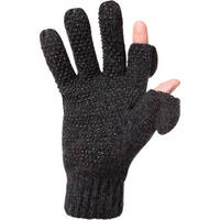 Freehands Ragg-Wool Men's Gloves (Large to X-Large, Charcoal)
