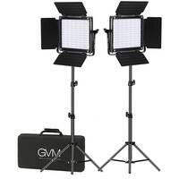 GVM 800D-RGB LED Studio 2-Video Light Kit