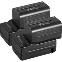 GVM NP-F750 4400mAh Batteries with Travel Chargers (Set of 2)