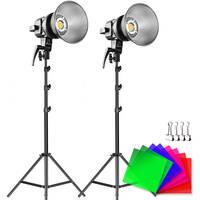 GVM LS-P80S LED 2-Light Kit with Filters