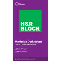 Deals on H&R BLOCK Tax Software Deluxe + State 2020 Windows Digital