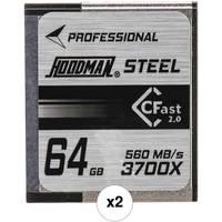2-Pack Hoodman HCFAST64 64GB 3700x CFast 2.0 Memory Card