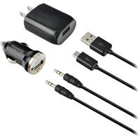 Deals on IEssentials 4 Piece Micro-USB Home and Car Charging Kit