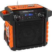 ION Audio Garage Rocker Wireless Worksite Speaker with Tool Storage (Orange)