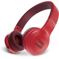 JBL E45BT Wireless Bluetooth On-Ear Headphones with One-Button Remote and Mic (Red)