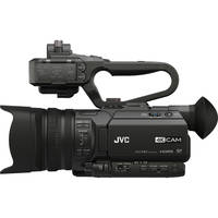 JVC GY-HM170UA 4K Ultra HD Professional Camcorder with Top Handle Audio + JVC Microphone