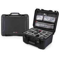 Nanuk 933 Case with Dividers and Lid Organizer (Black)