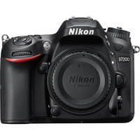 Nikon D7200 24MP Full HD 1080p Wi-Fi Digital SLR Camera Body (Black)