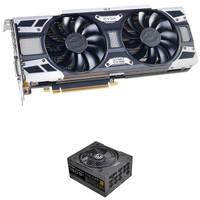 EVGA GeForce GTX 1080 SC2 8GB GDDR5X GAMING Graphics Card + EVGA SuperNOVA 750W Power Supply