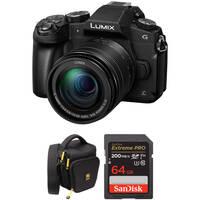 Panasonic LUMIX G85 16MP 4K Ultra HD Wi-Fi Mirrorless Digital Camera with 12-60mm Lens (Black) + Battery + 32GB Memory Card + Holster Bag