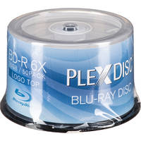 50 Pack PlexDisc 25 GB 6X BD-R Spindle Disc