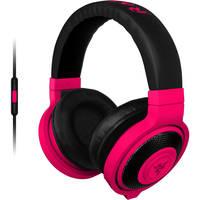 Razer Kraken On-Ear USB Wired Gaming Headphones (Neon Red)