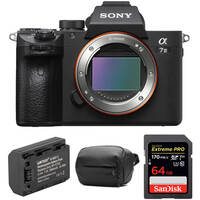 Deals on Sony Alpha a7 III Mirrorless Digital Camera Body w/Accessory Kit