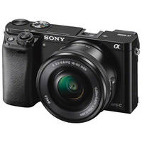 Sony Alpha a6000 24.3MP Full HD 1080p Mirrorless Digital Camera with 16-50mm Lens (Black) - Used - Like New