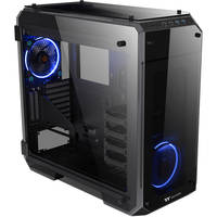 Thermaltake CA-1I7-00F1WN-00 ATX Full Tower Gaming Computer Case Chassis with 2 Blue LED Ring Fan