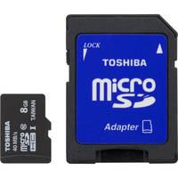 3-Pack Toshiba PFM008U-2DCK 8GB Class 10 266x MicroSDHC Memory Card
