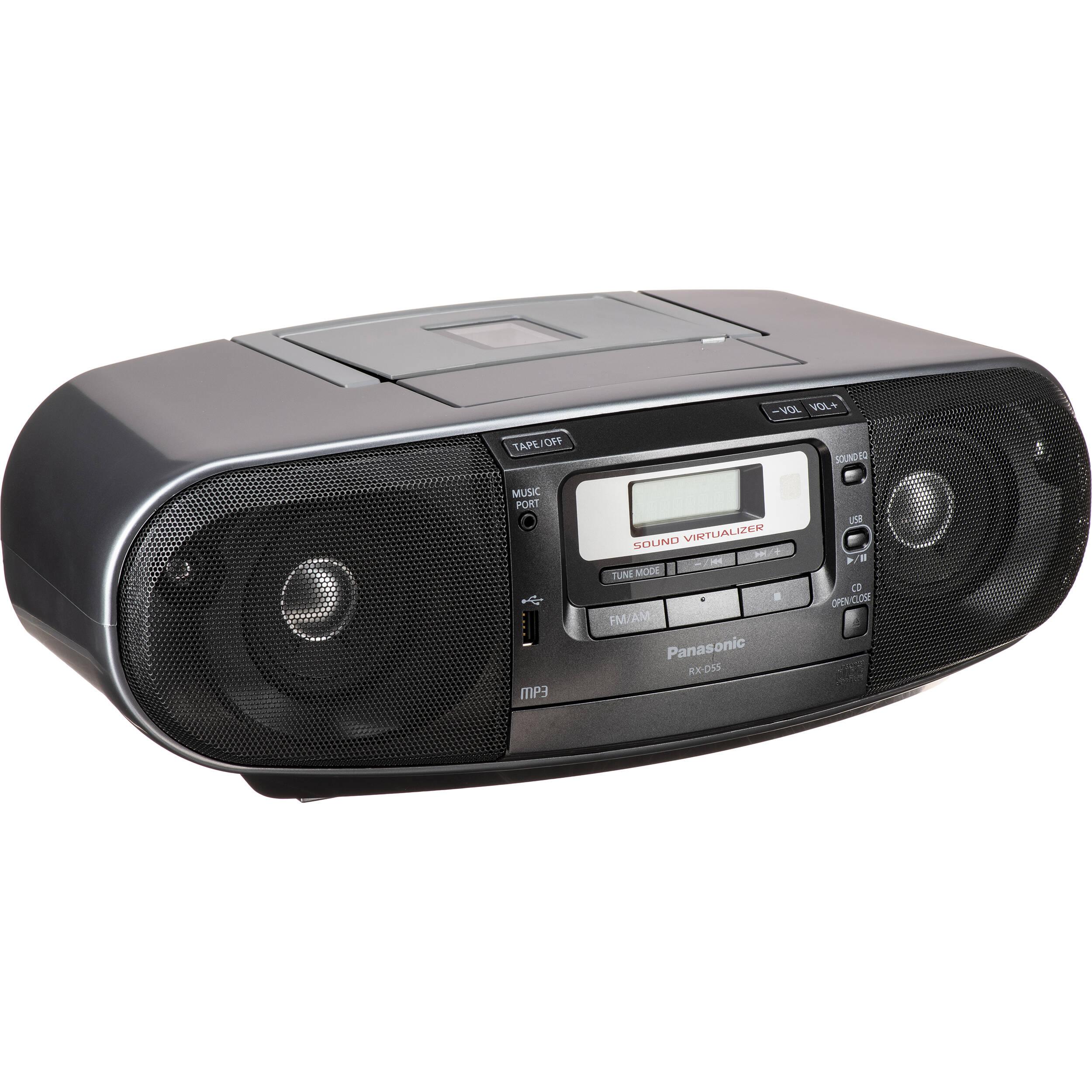 Panasonic Rx D55 Cd Radio Cassette Recorder Rx D55gc K B Amp H border=