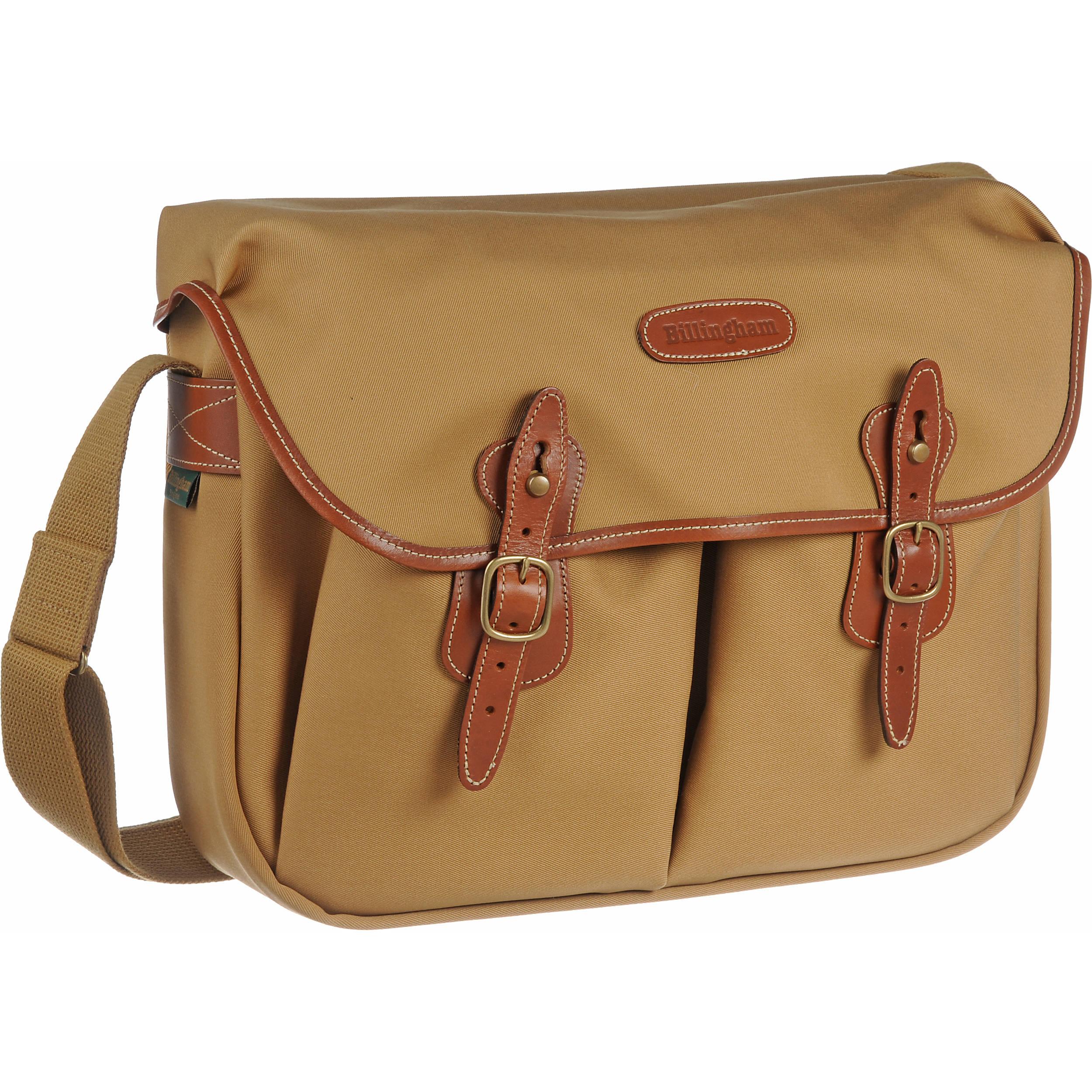 17b52bf7584d Billingham Hadley Large Canvas Shoulder Bag (Khaki with Tan Leather Trim)
