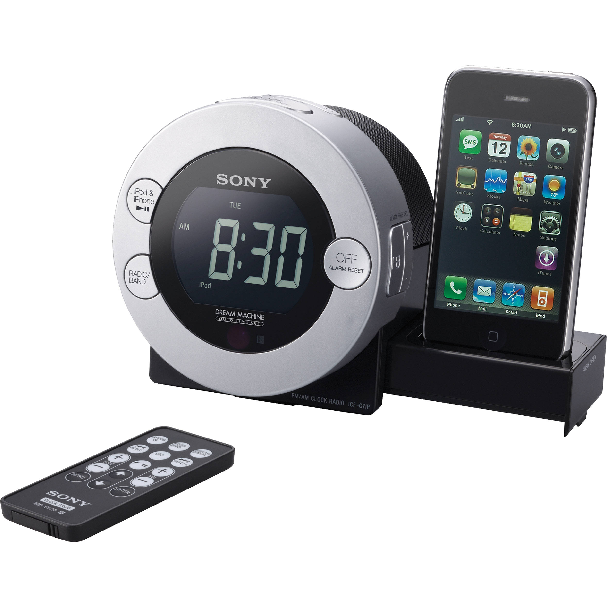 wholesale dealer 75aba 07388 Sony ICF-C7IP Clock Radio for iPod and iPhone