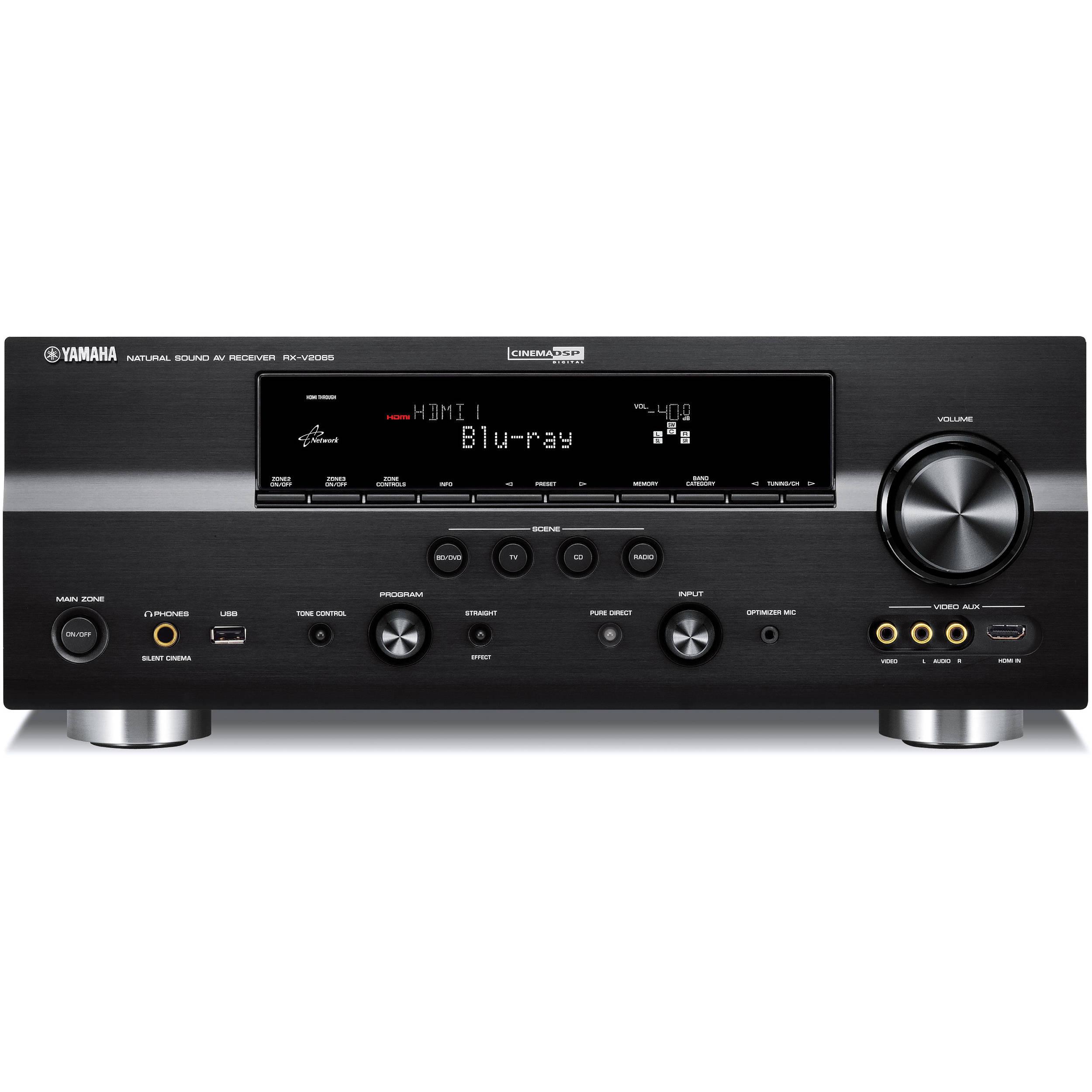 Yamaha RX-V2065BL 7 2-Channel Network Digital Home Theater Receiver (Black)