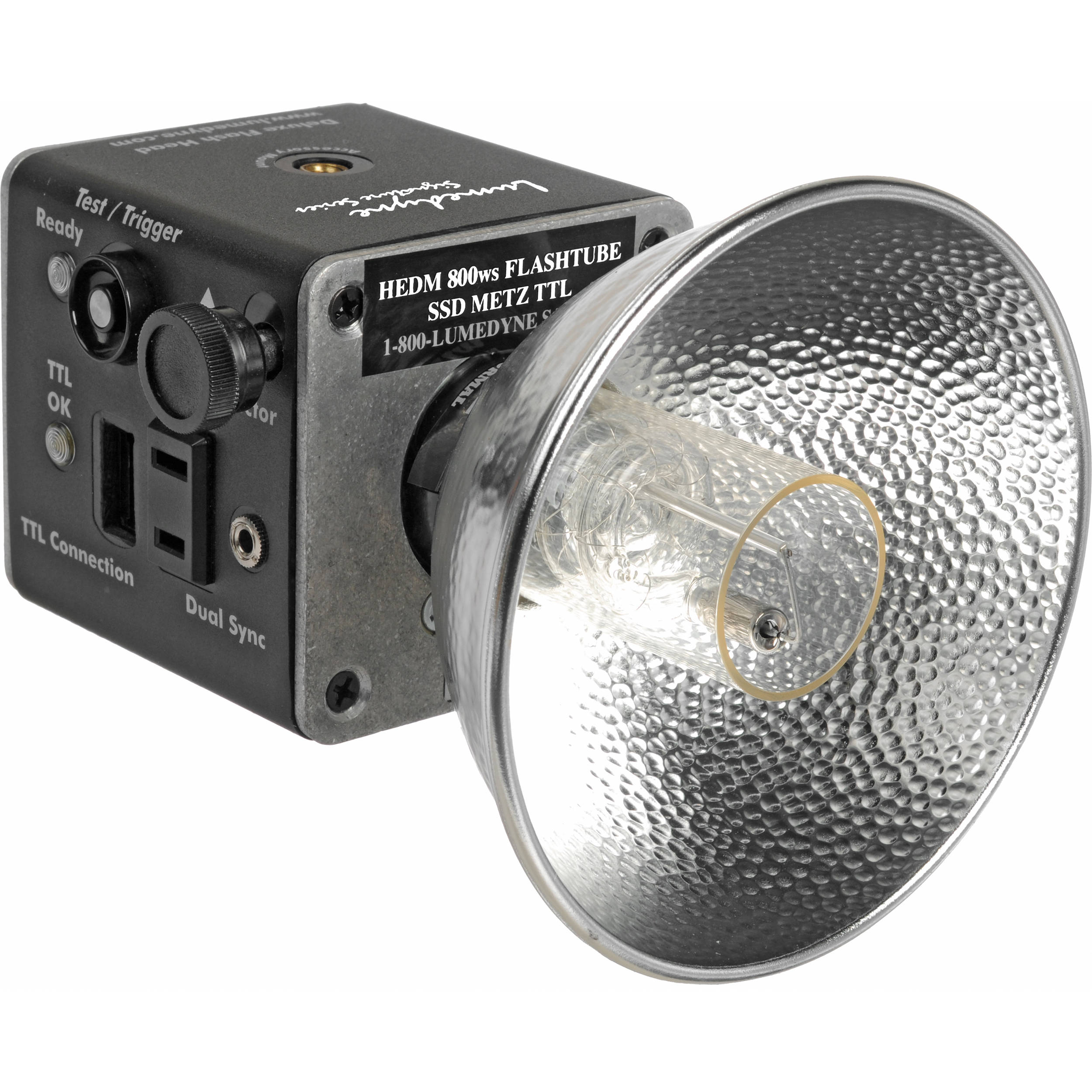 Lumedyne 800w flash head w//modeling light