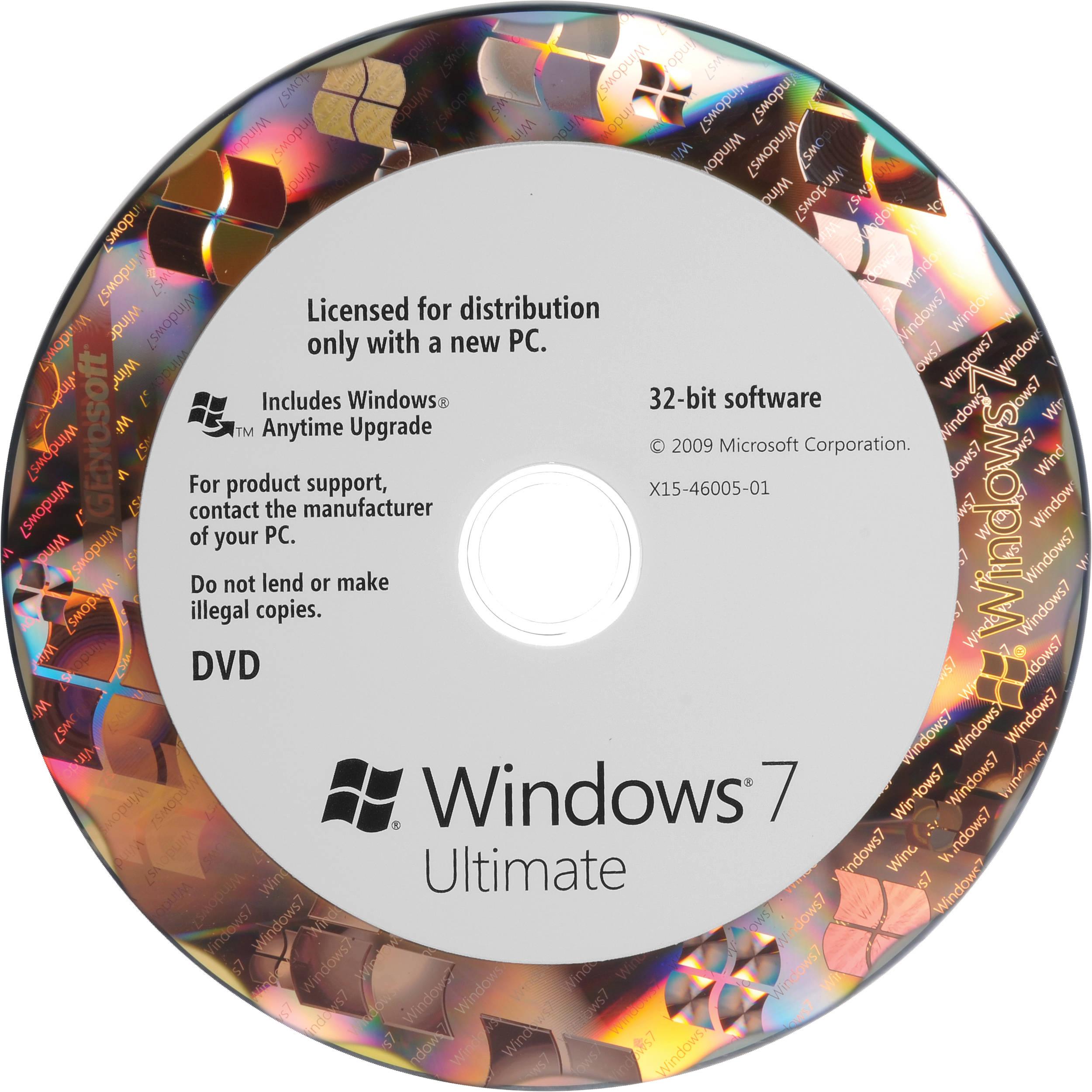 Microsoft Windows 7 Ultimate (32-bit) (OEM)