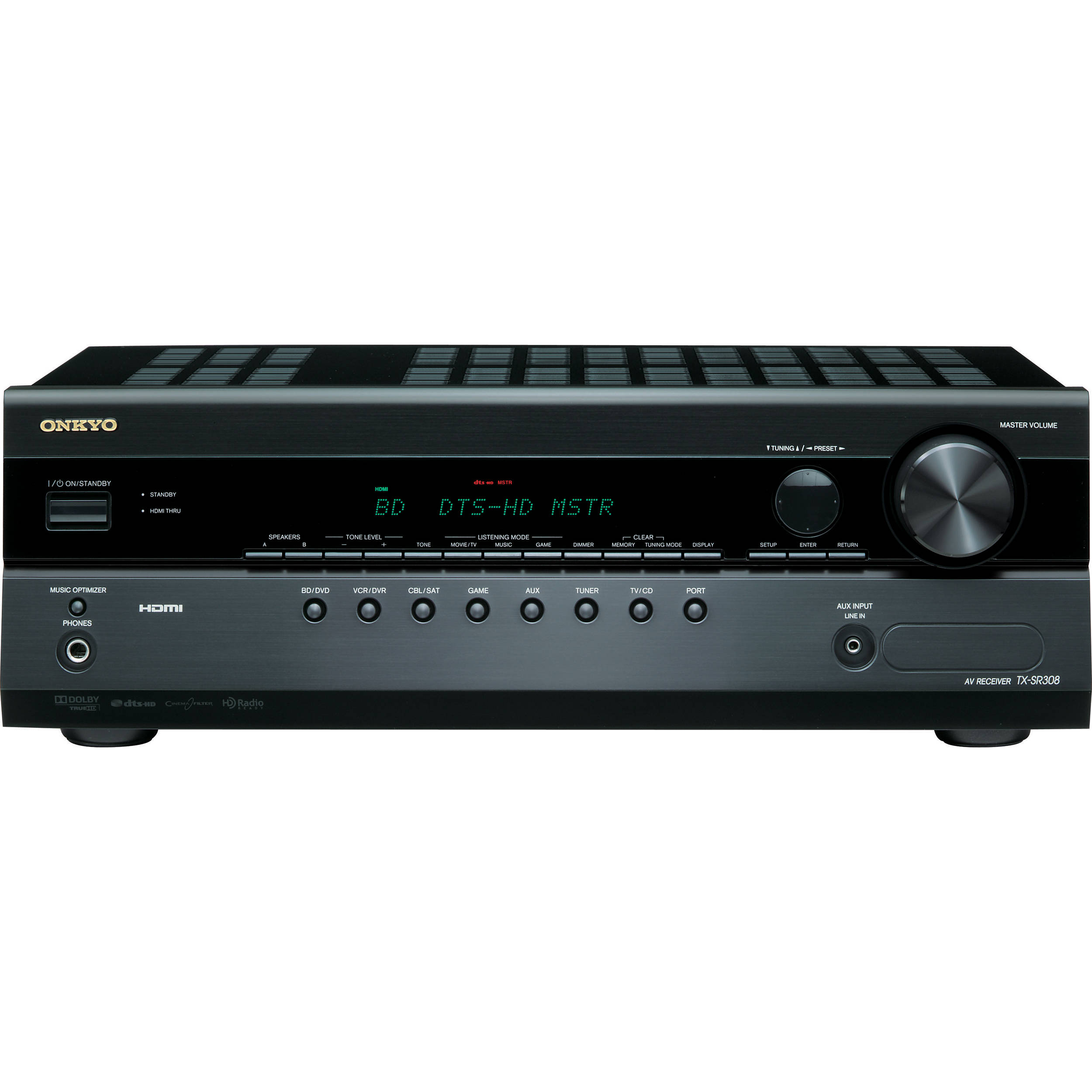 Onkyo TX-SR308 5 1 Channel A/V Home Theater Receiver