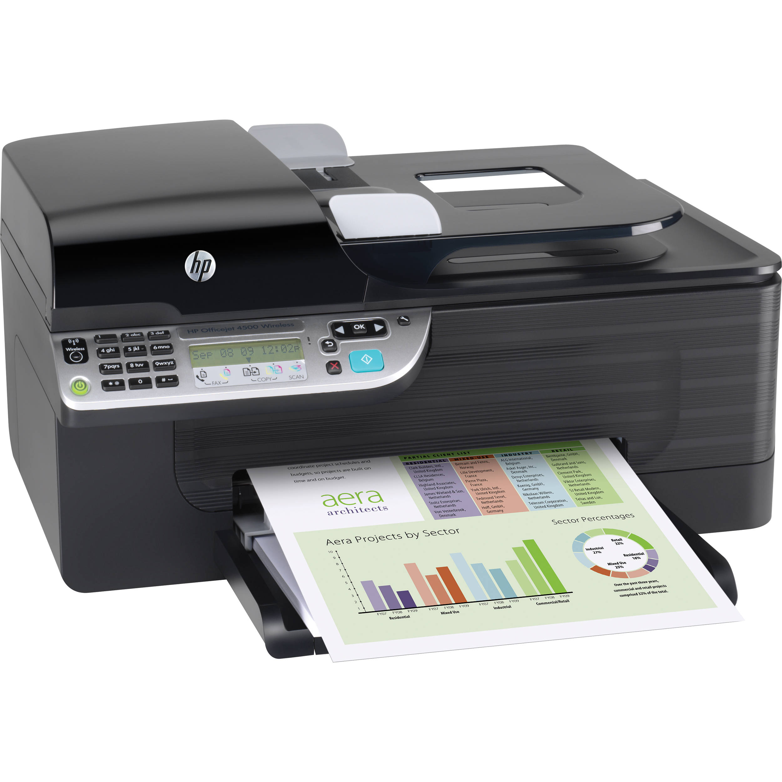 HP CN547A Officejet 4500 Wireless All-In-One Printer