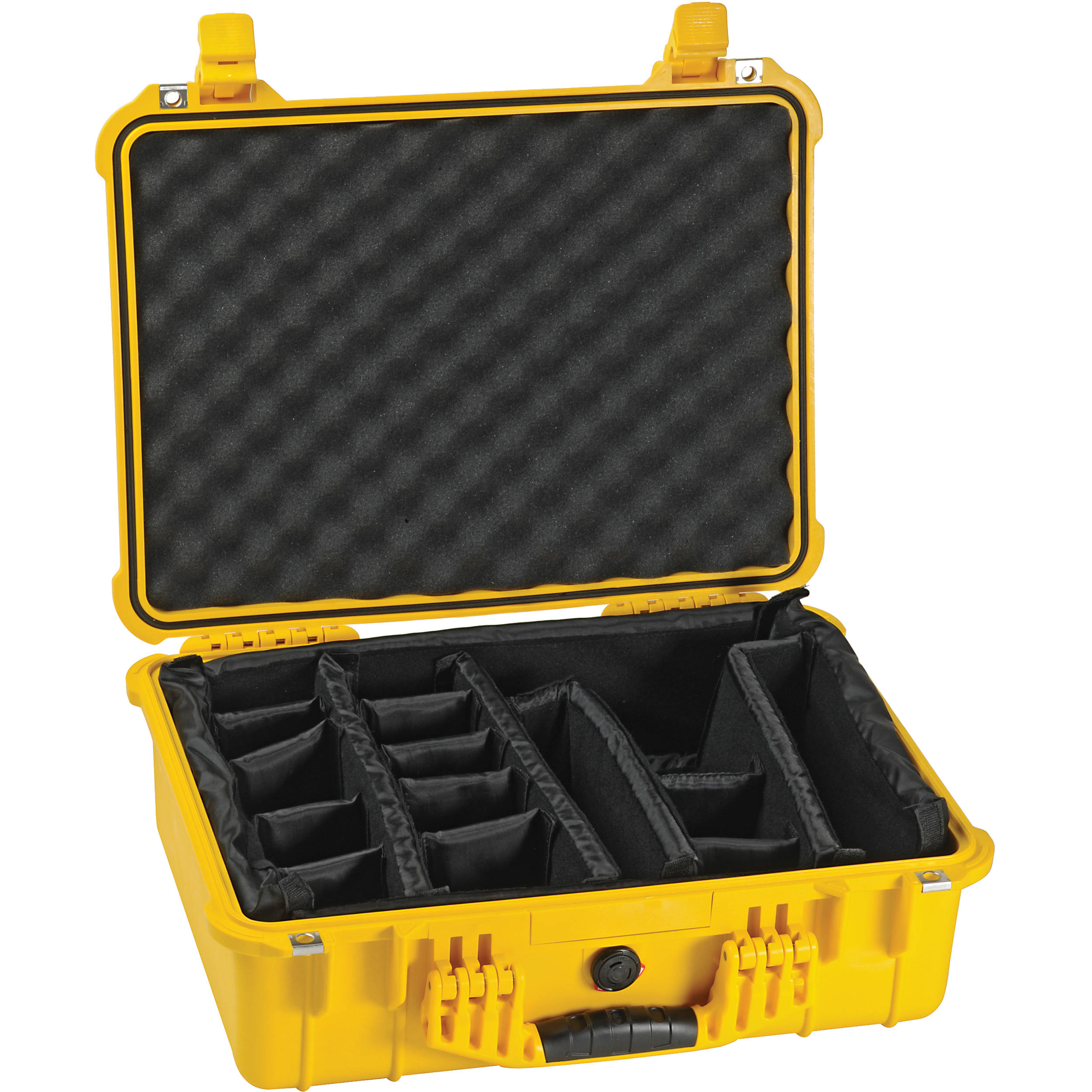 Pelican 1550 Case With Padded Dividers Yellow