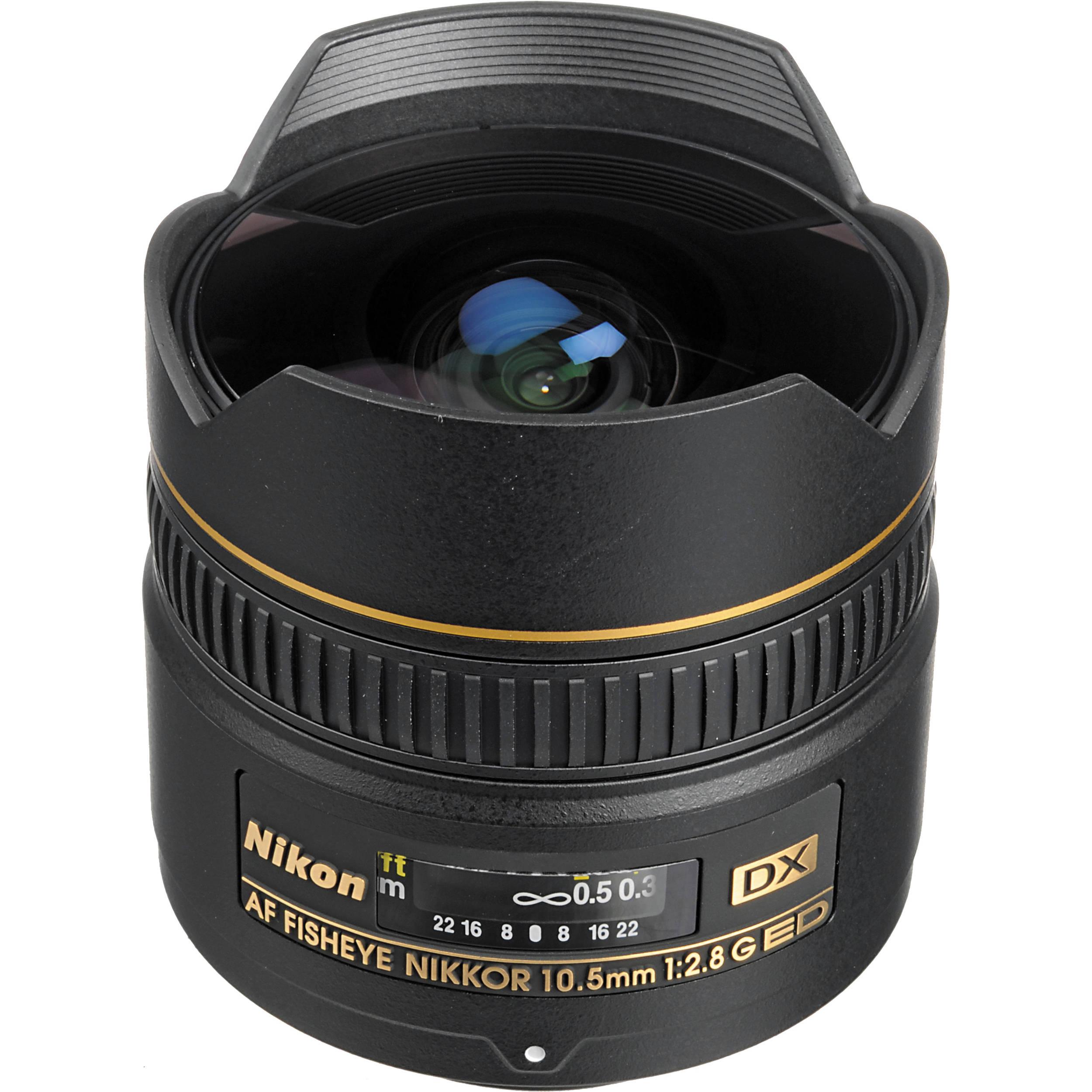 Nikon AF DX Fisheye-NIKKOR 10 5mm f/2 8G ED Lens (Refurbished by Nikon USA)