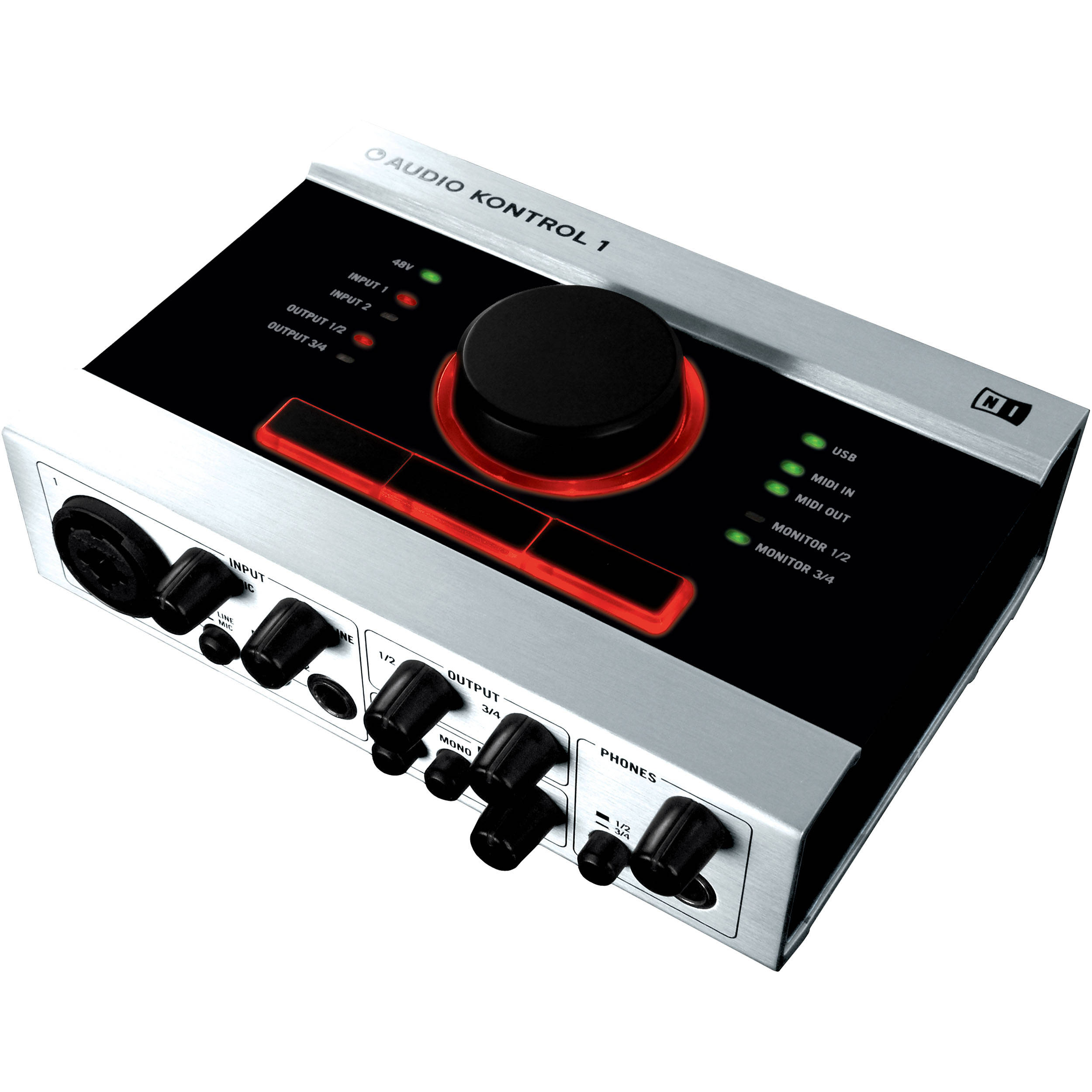 Native Instruments AUDIO KONTROL 1 - 2 Input / 4 Output USB 2 0 Audio  Interface for Mac OS X and Windows XP