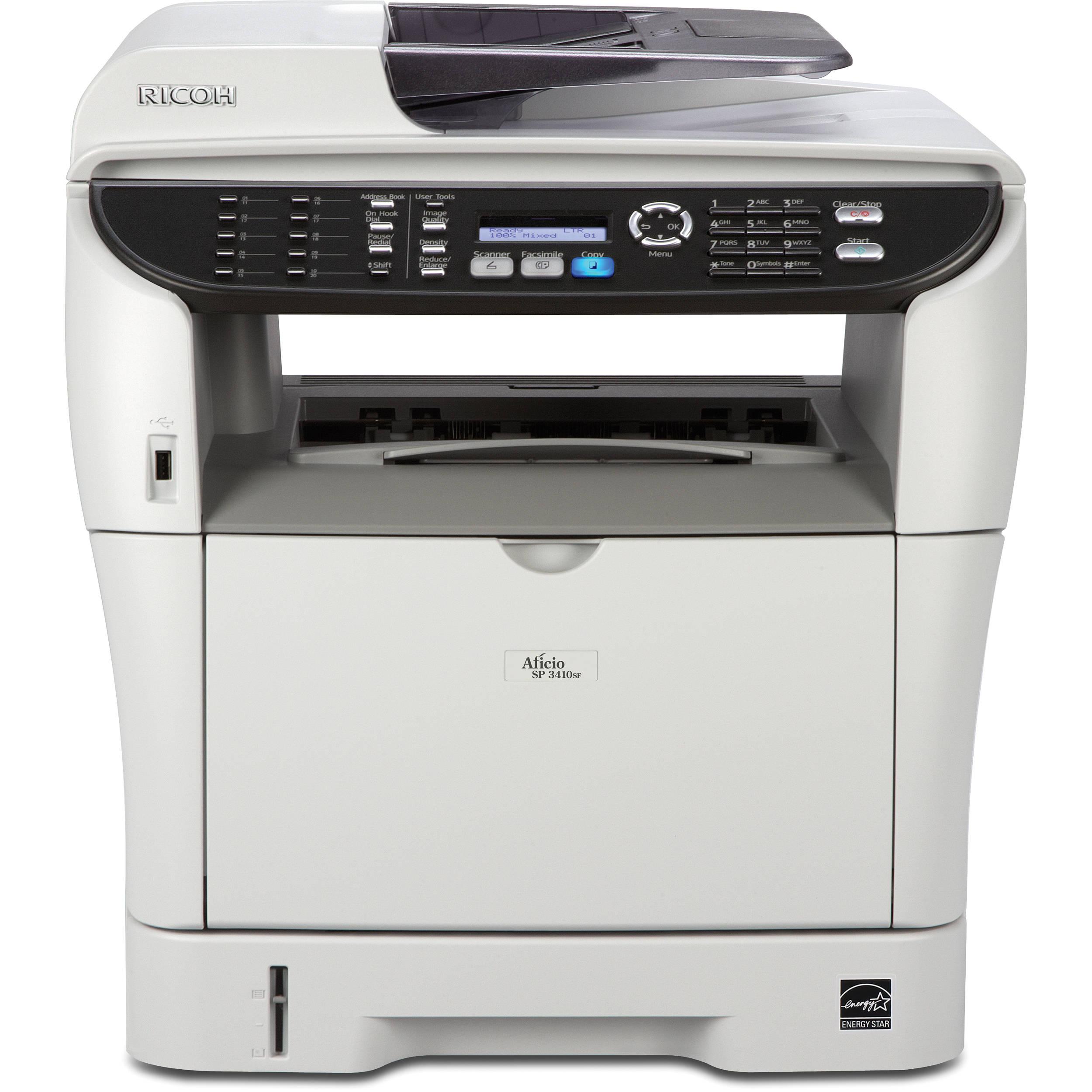 Ricoh Aficio SP 3410SF Multifunction Monochrome Printer