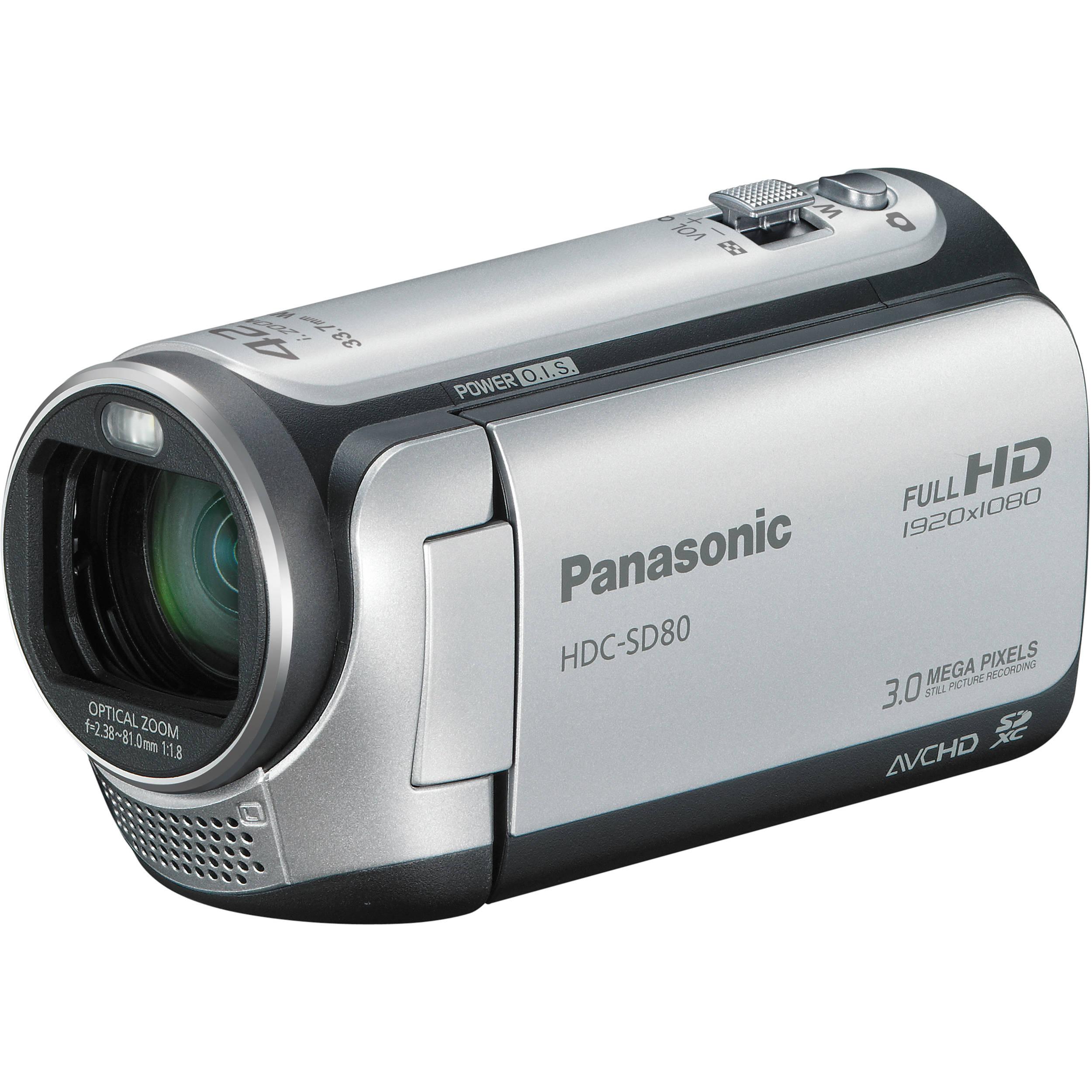 Panasonic HDC-SD80 High Definition Camcorder (Silver)