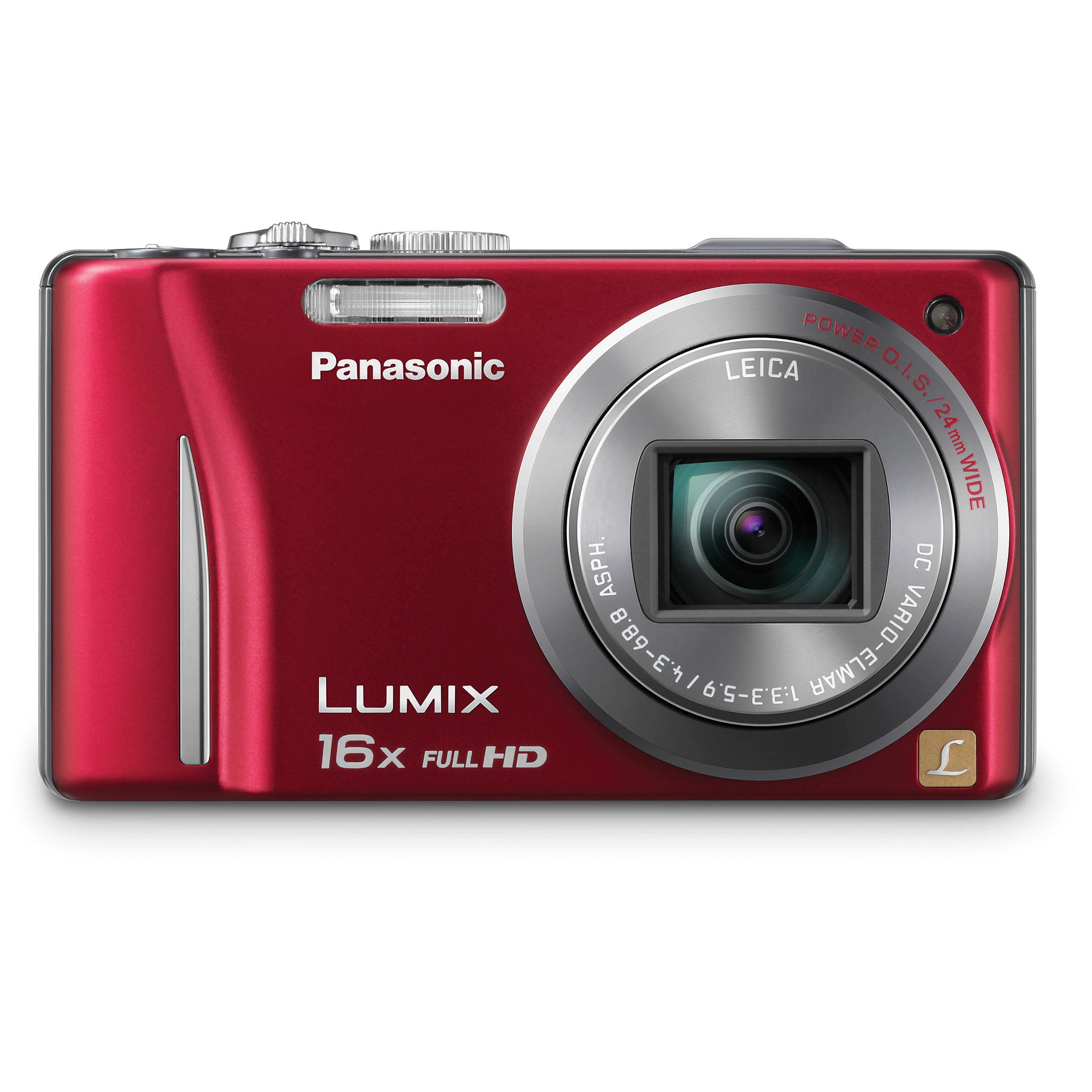 Panasonic Lumix DMC-ZS10 Digital Camera (Red)