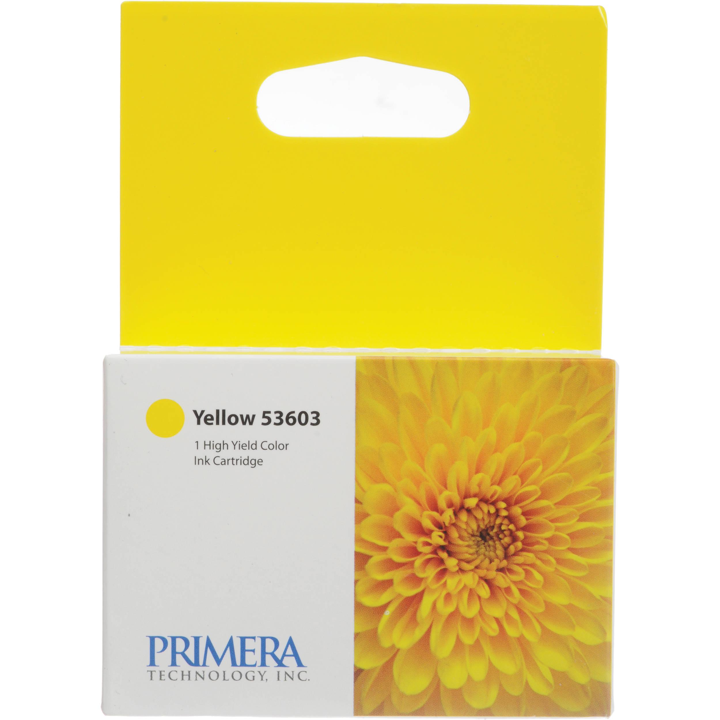 Primera 53603 Yellow Ink Cartridge Bravo 4100 Series