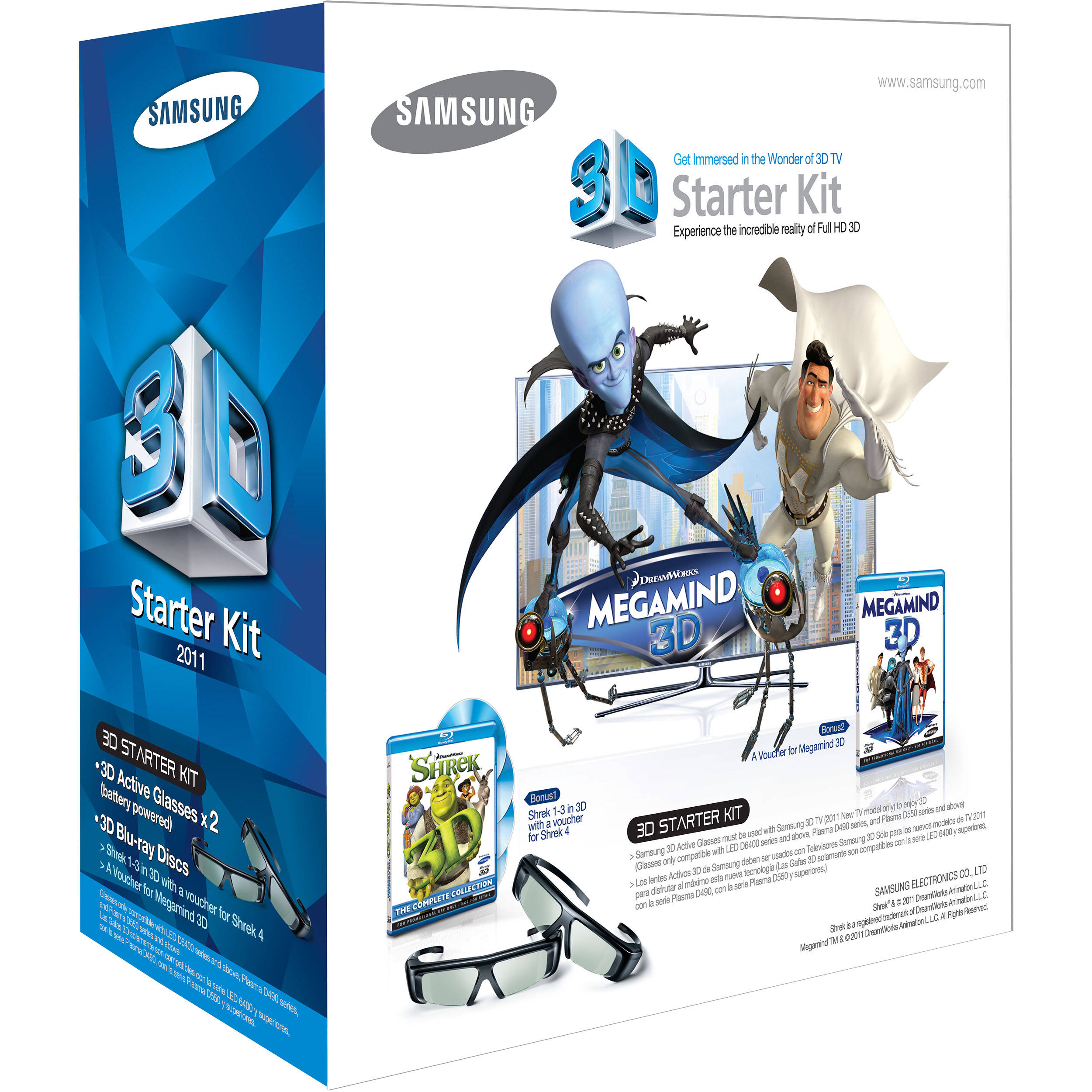 706a5dd7766a Samsung 3D Starter Kit 2011 with 3D Glasses and 3D SSG-P3100M/ZA