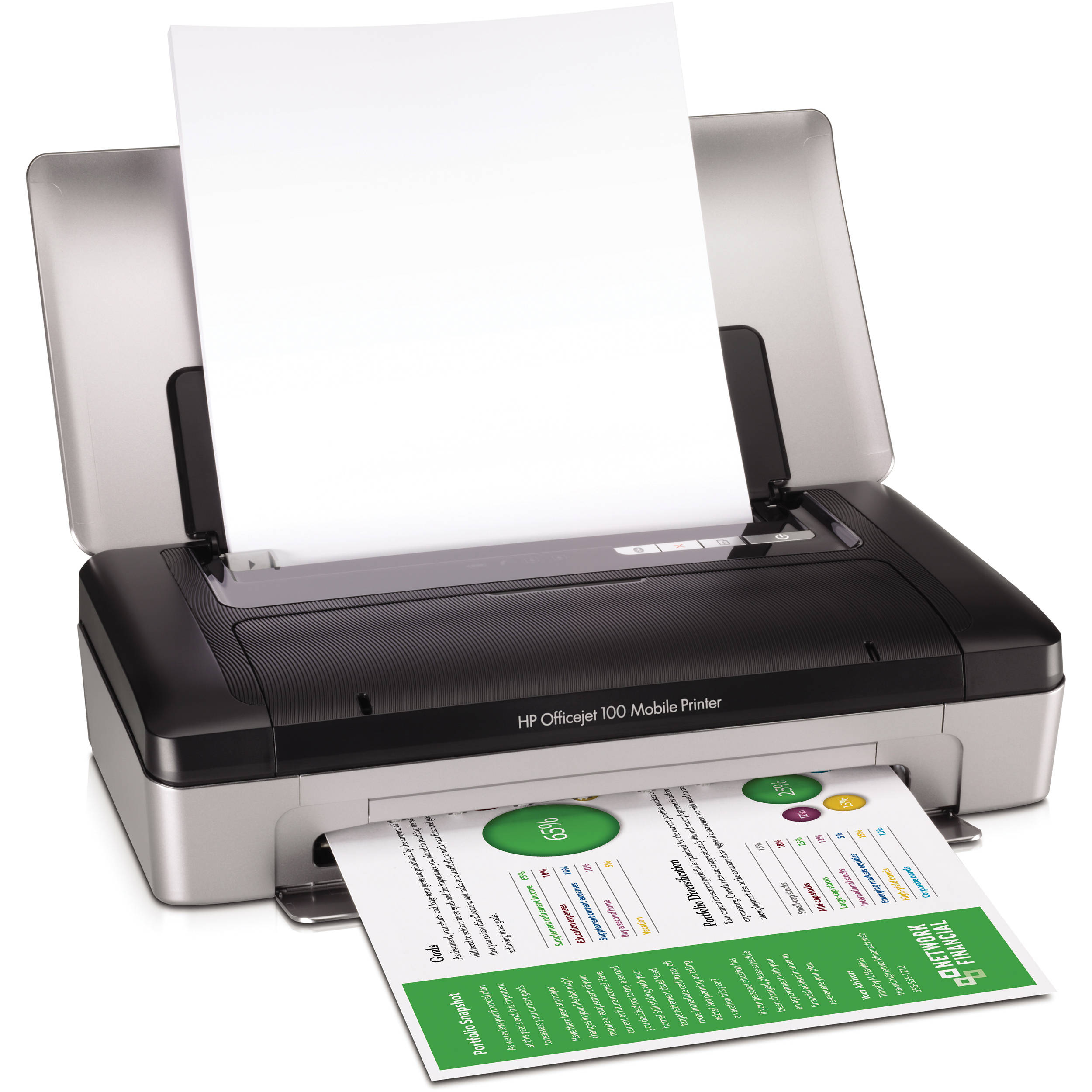 Hp Officejet 100 Mobile Printer CN551A 2 Usb Ports Used Free Shipping No Inks