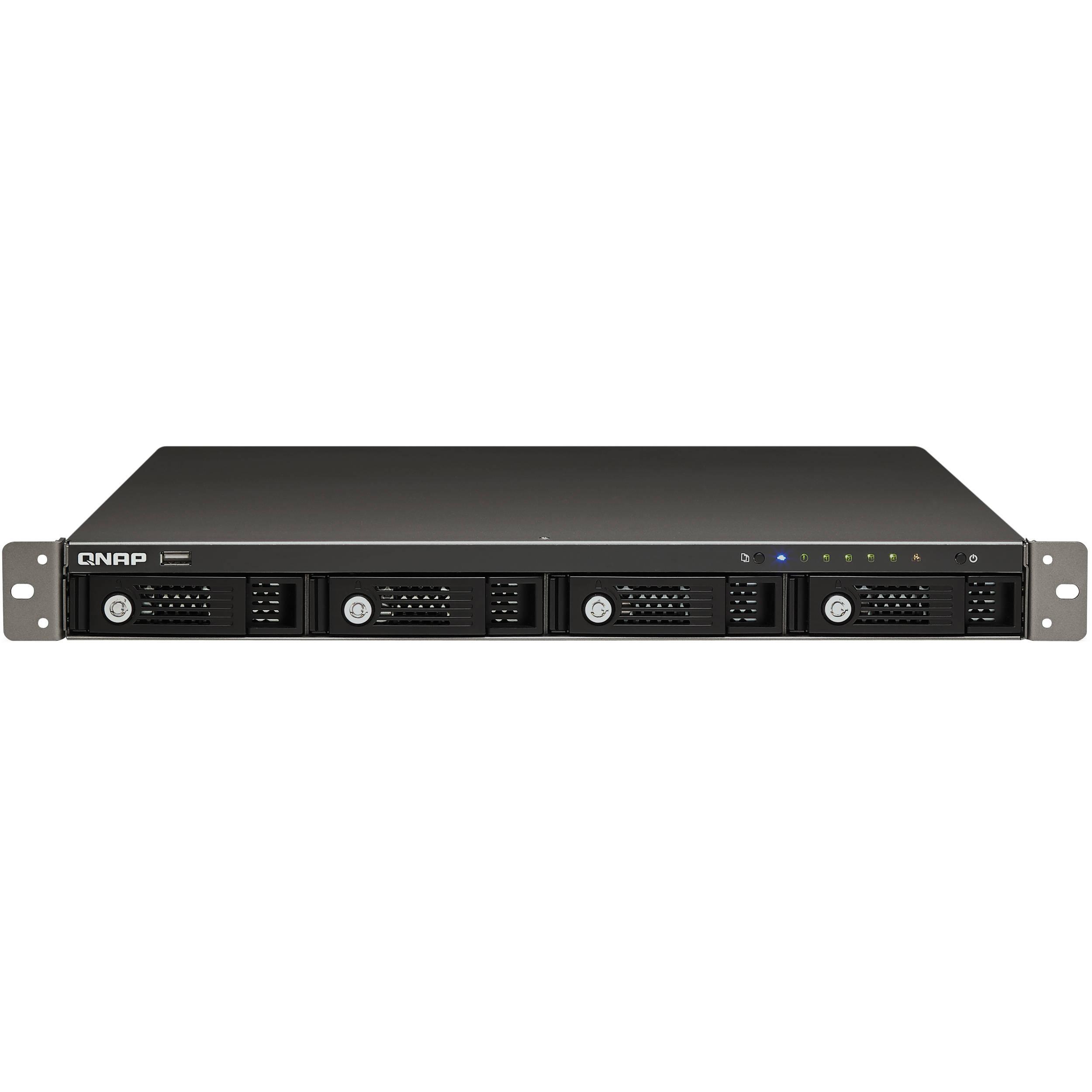 QNAP TS-419U+ All-in-One Turbo NAS 1U Rackmount Server