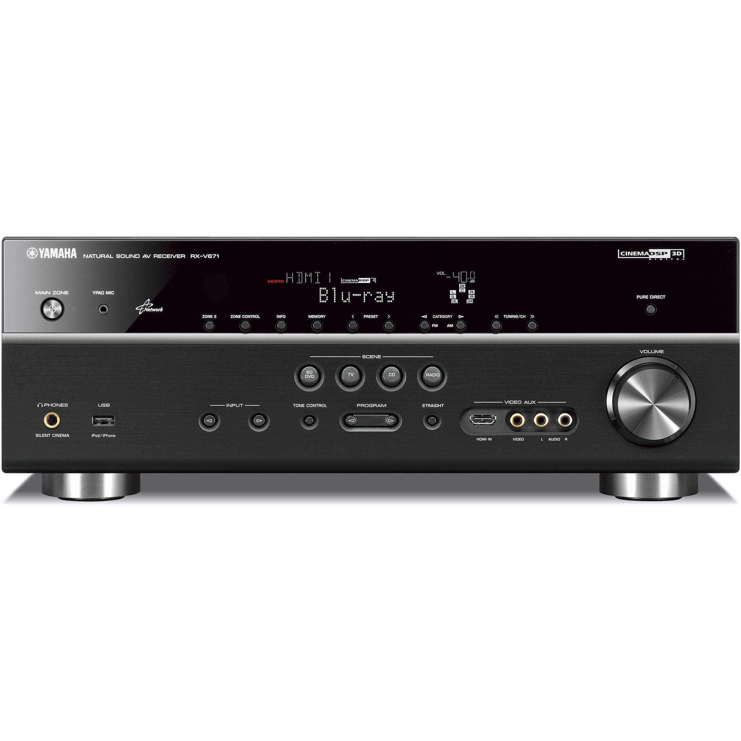 Yamaha Rx V671 7 1 Channel Home Theater Receiver Black