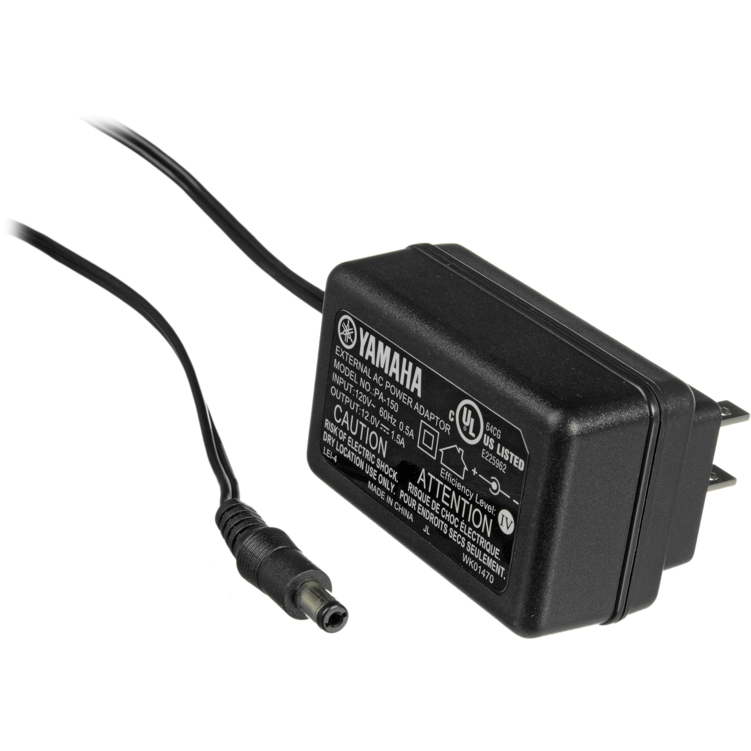 Yamaha PA150 AC Adapter for Keyboards and Drums