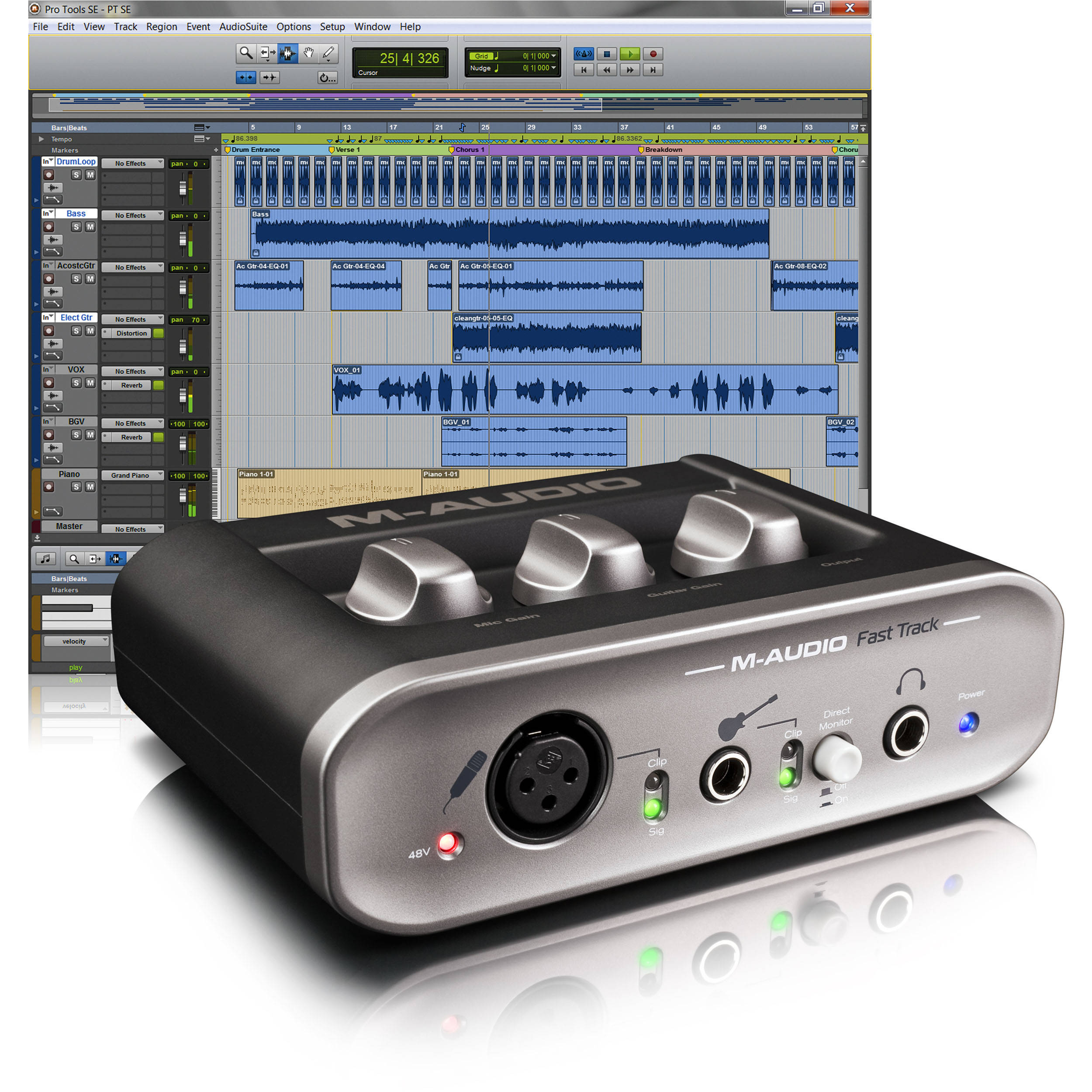 M-Audio Fast Track USB Interface with Pro Tools SE Software