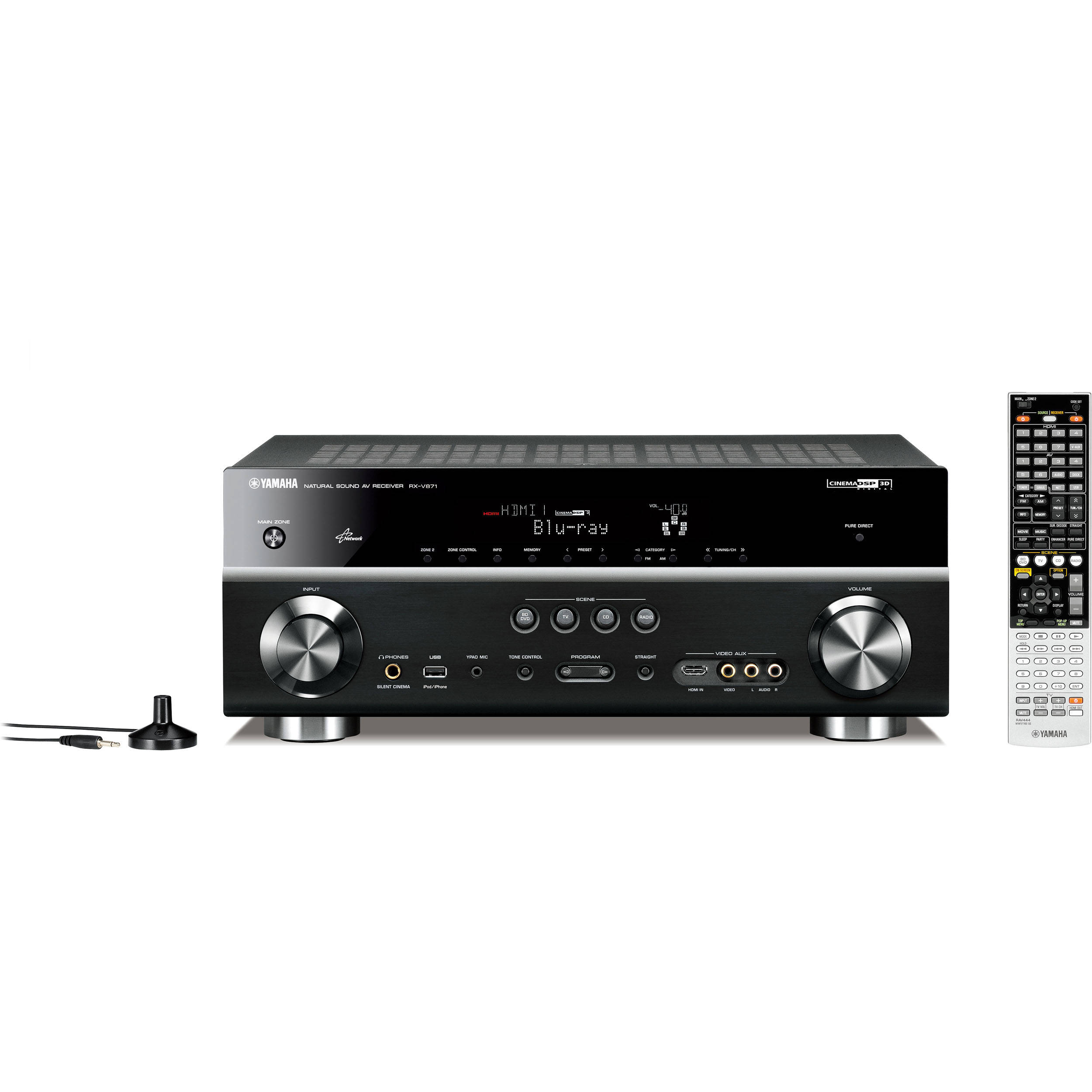 Yamaha Rx V871 7 2 Channel Home Theater Receiver Black