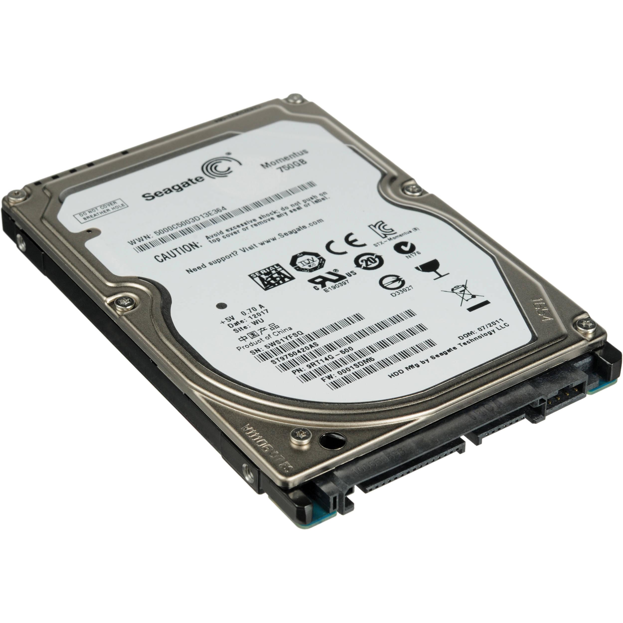 Seagate 750gb Momentus 2 5 Laptop Hard Drive