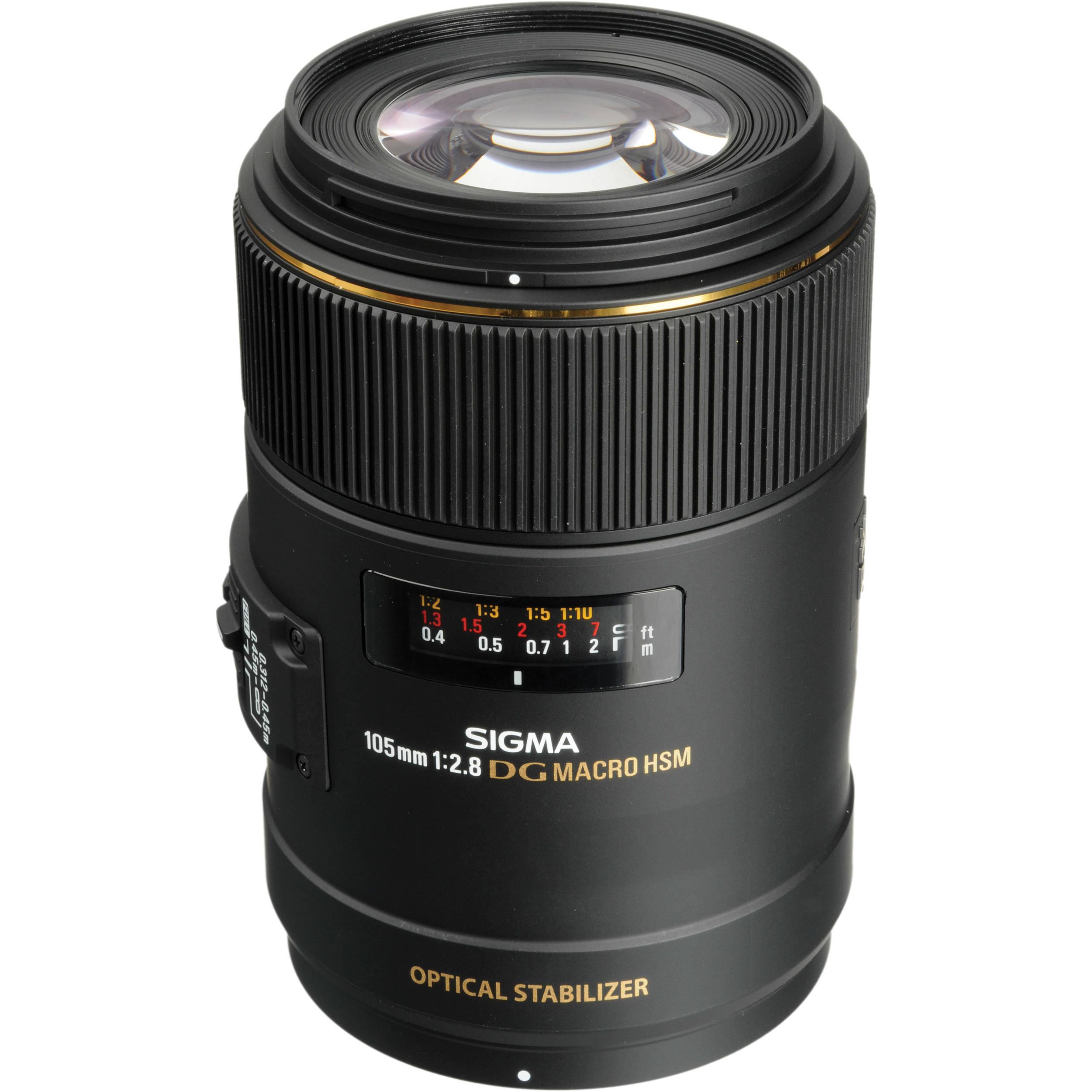 Sigma 105mm f/2 8 EX DG OS HSM Macro Lens for Nikon F