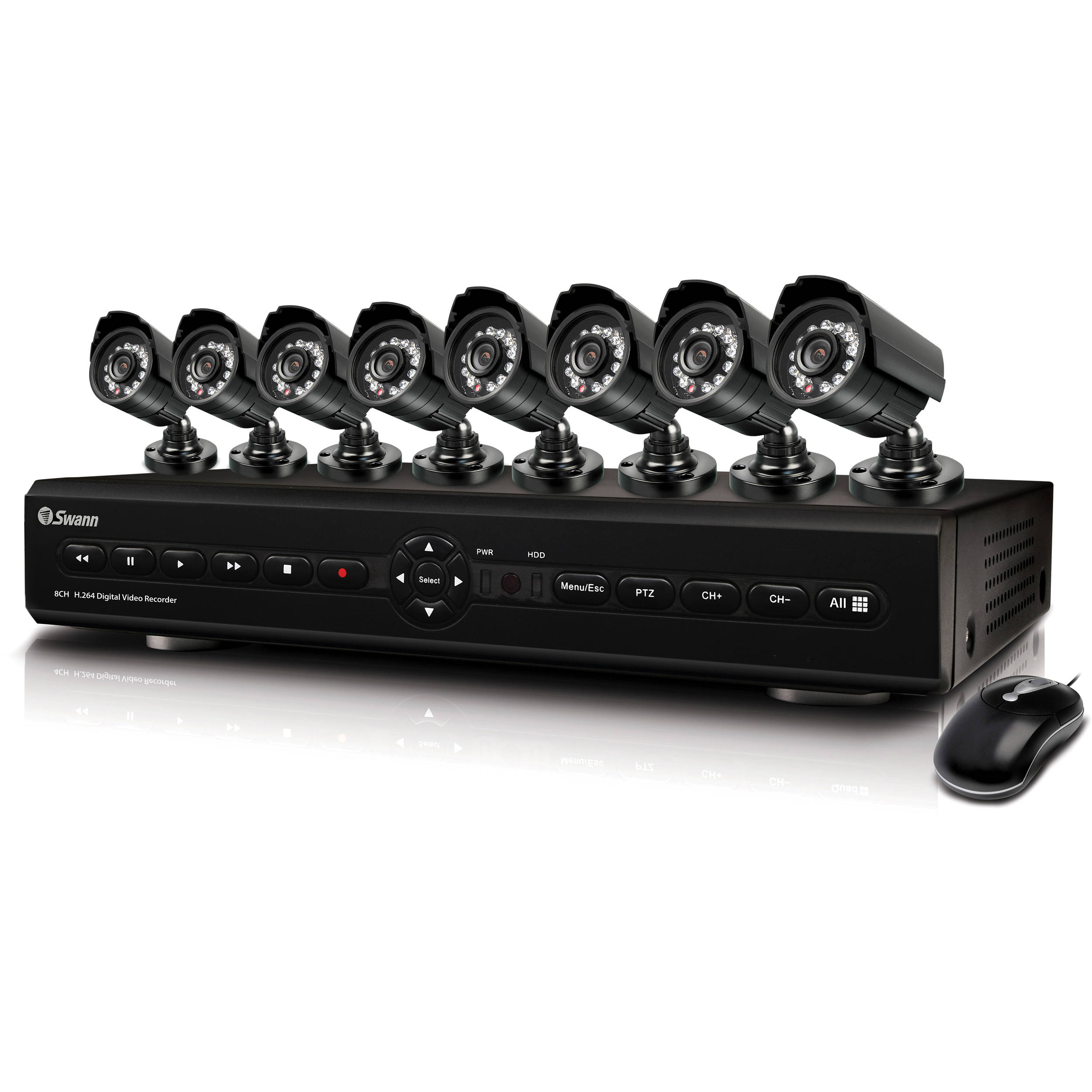 Swann SWDVK-825508 8 Channel DVR with Smartphone Viewing & 8 CCD Cameras