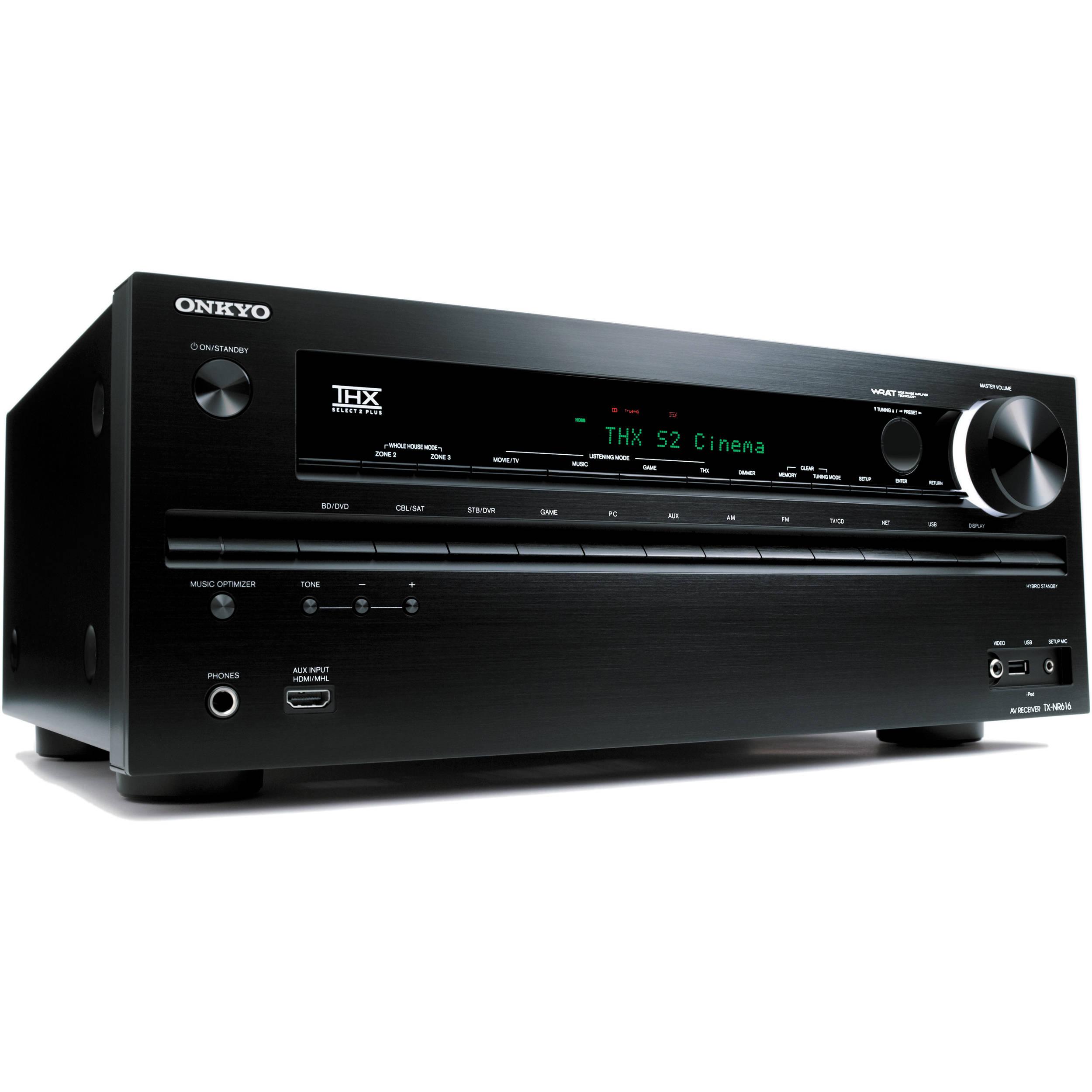 Onkyo TX-NR616 A/V Home Theater Receiver